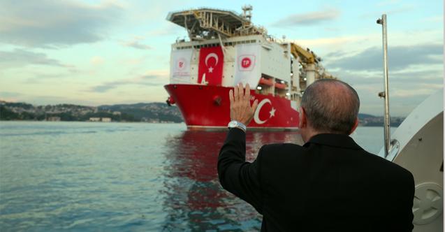 Cumhurbaşkanı Erdoğan'dan Fatih Sondaj Gemisi Paylaşımı