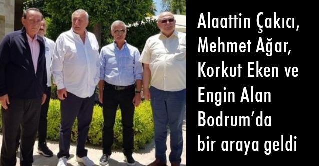 Alaattin Çakıcı, Mehmet Ağar, Korkut Eken ve Engin Alan bir arada