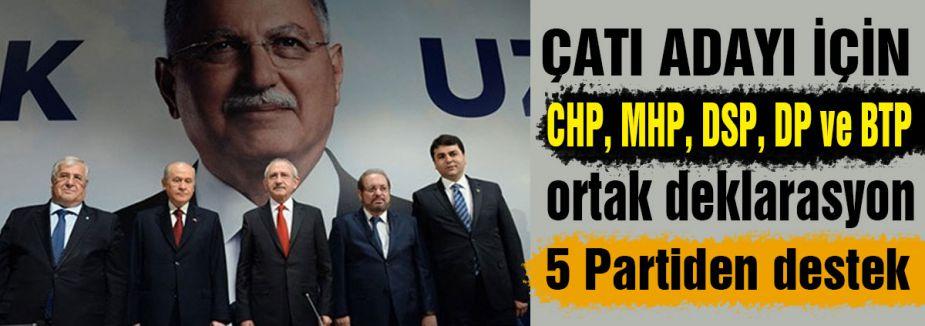 5 Partiden ortak deklarasyon