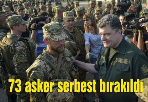 73 asker serbest bırakıldı