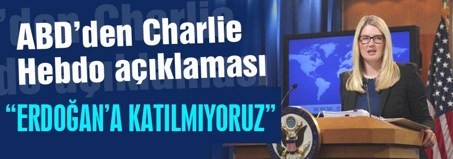 """ABD açıklama yaptı: """"Erdoğan'a katılmıyoruz"""""""