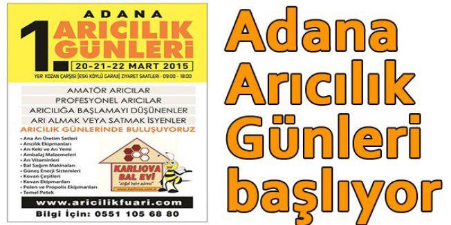 Adana Arıcılık Günleri başlıyor