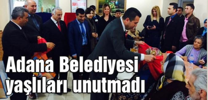 Adana Belediyesi Yaşlıları ziyaret etti