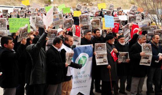Adıyaman'da özgür medyaya baskın protesto edildi
