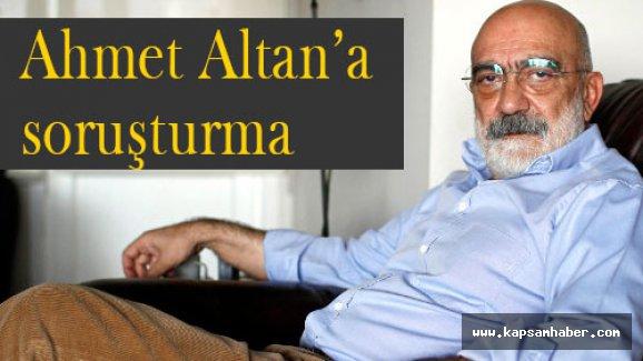 Ahmet Altan'a soruşturma!