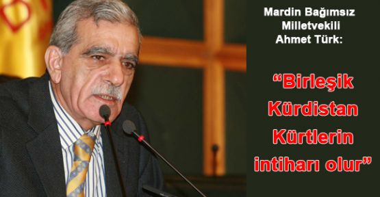 """Ahmet Türk: """"Birleşik Kürdistan Kürtlerin İntiharı Olur"""""""