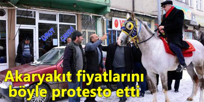 Akaryakıt fiyatlarını protesto ettiler