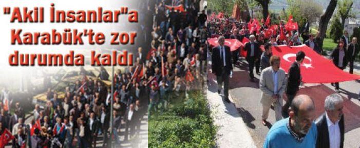 Akiller'e Karabük'te Bayraklı Protesto