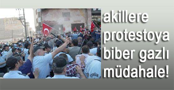 Akillere Protestoya Biber Gazı