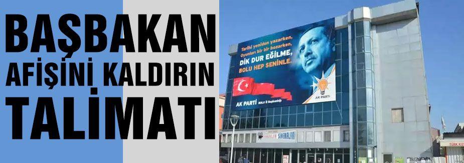 AKP afişini 'kaldırın' talimatı