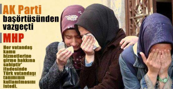 AKP Başörtüsünü Rafa Kaldırdı
