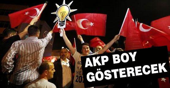 AKP Boy Gösterecek