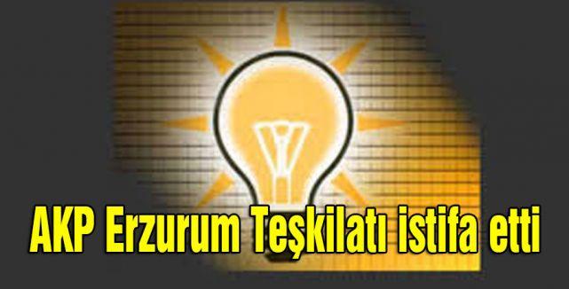 AKP Erzurum Teşkilatı istifa etti