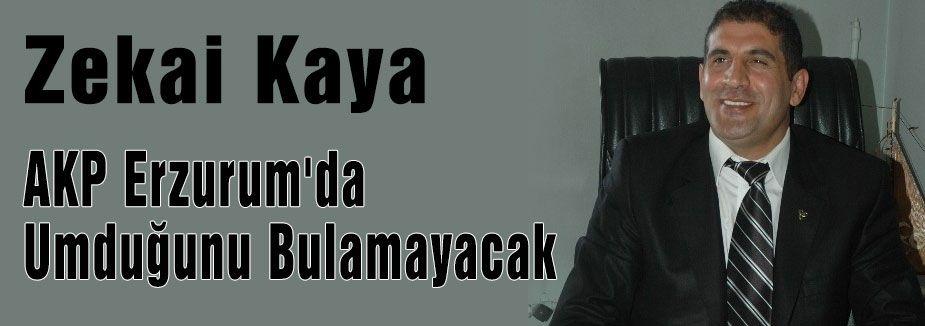 AKP Erzurum'da Umduğunu Bulamayacak