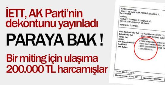 AKP Miting İçin Ulaşıma Ne Kadar Ödedi?