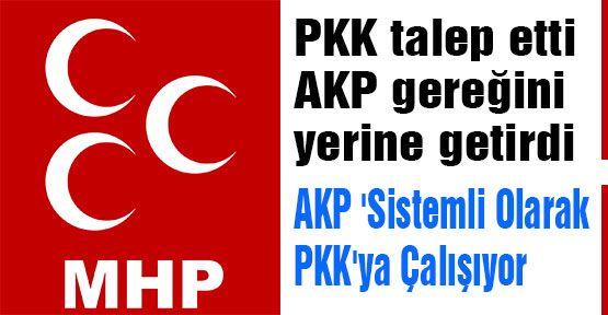 AKP 'Sistemli Olarak PKK'ya Çalışıyor'...