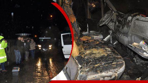 AKP'li Başkanının Arabasına Saldırı...