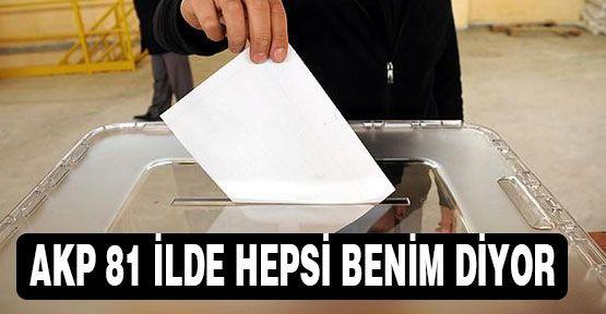 AKP'nin Gözü 81 İlde