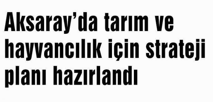 Aksaray'da tarım ve hayvancılık için  strateji planı hazırlandı