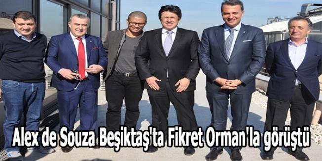 Alex de Souza Beşiktaş'ta Fikret Orman'la görüştü