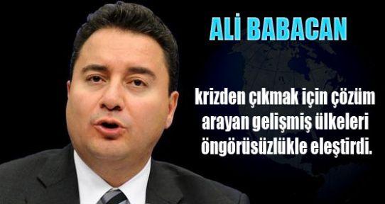 Ali Babacan Uyardı!