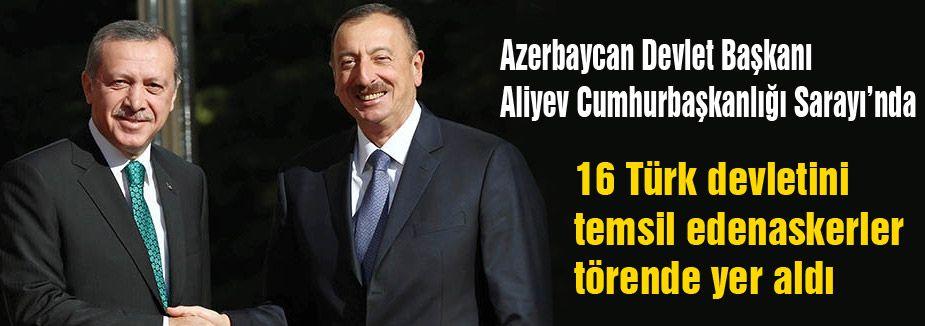 Aliyev Cumhurbaşkanlığı Sarayı'nda...