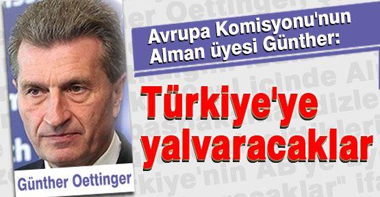 Alman üye Oettinger, Türkiye'ye Yalvaracaklar