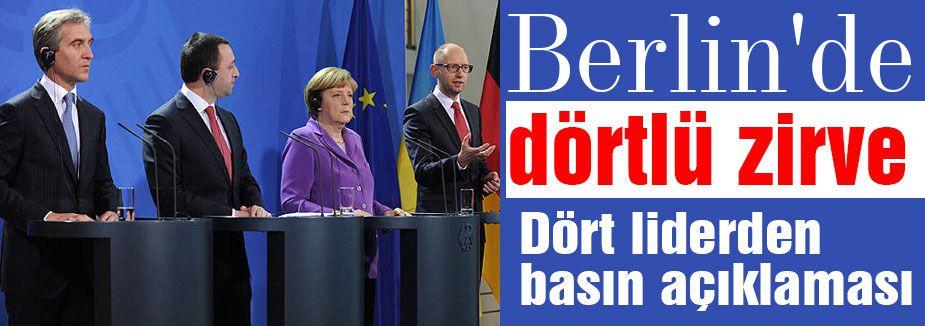 Almanya'da Dörtlü zirve...