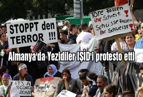 Almanya'da Yezidiler IŞİD'i protesto etti