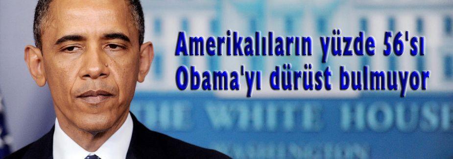 Amerikalıların yüzde 56'sı Obama'yı dürüst bulmuyor