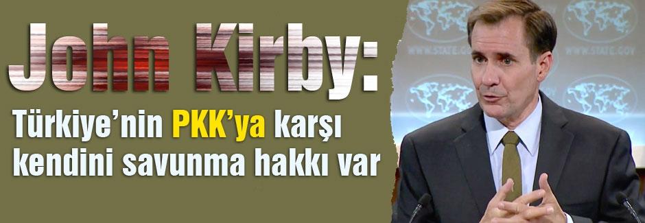 Kirby, Türkiye'nin kendini savunma hakkı var