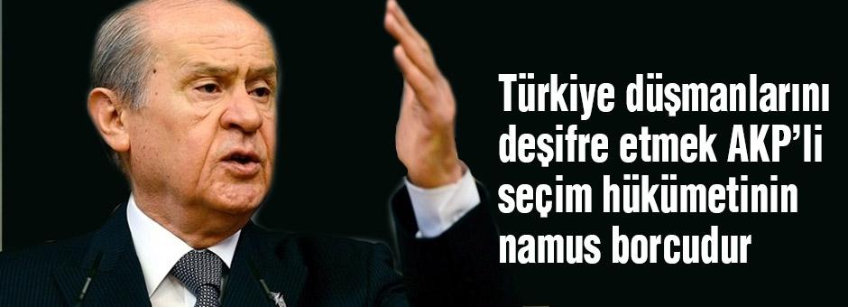 Bahçeli: Türk Düşmanlarını Deşifre Etmek, AKP'nin Namus Borcudur