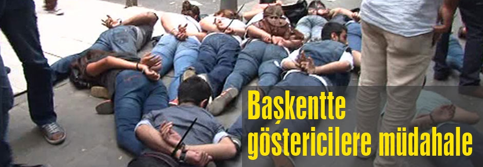 Ankara'da göstericilere polis müdahalesi