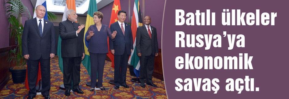 Batılı ülkeleri Rusya'ya ekonomik savaş açtı