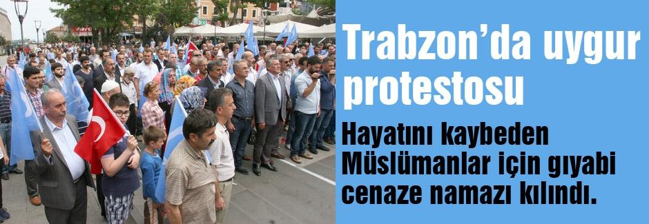 Trabzon'da Uygur protestosu