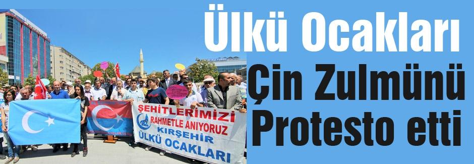 Ülkü Ocaklarından Uygur protestosu...