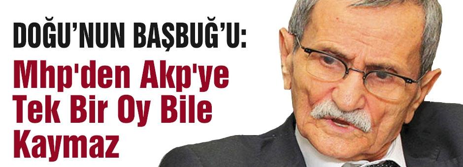 Yılma Durak: Mhp'den Akp'ye Tek Bir Oy Bile Kaymaz