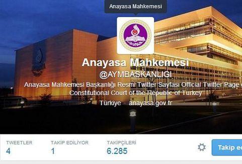 Anasaya Mahkemesi Twitter hesabı açtı...