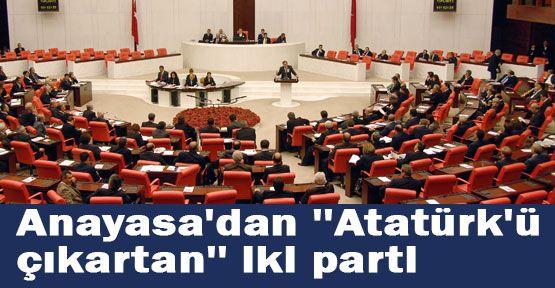 """Anayasa da """"Atatürk""""  Anlaşmazlığı"""