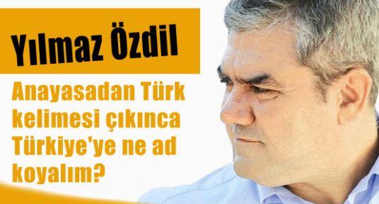 Anayasadan Türk kelimesi çıkınca verilecek isim hazır