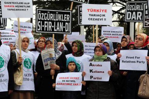 Ankara Adliyesi önünde 'hukuksuluklara hayır' eylemi yapıldı