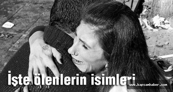 Ankara'da Bombalı saldırıda ölenlerin isimleri açıklandı