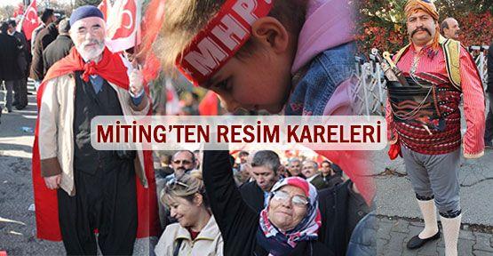 Ankara 'Türkiye' mitingi resim kareleri