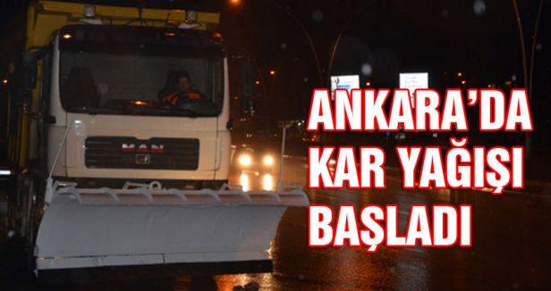 Ankara'da kar yağıyor...