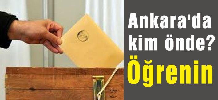 Ankara'da kim önde Öğrenin