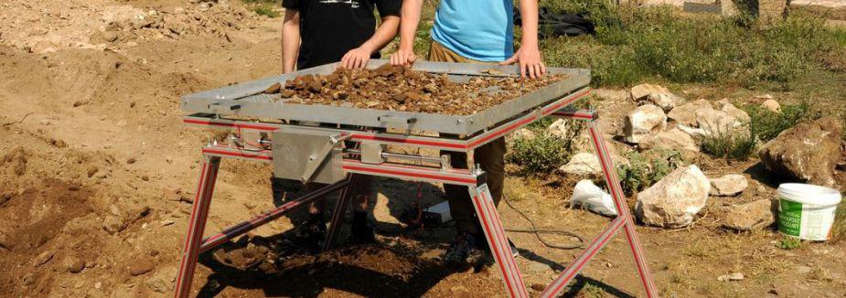 Arkeolojik kazılar için elektronik elek