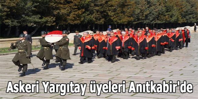 Askeri Yargıtay üyeleri Anıtkabir'de