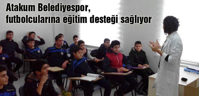 Atakum Belediyespor, futbolcularına eğitim desteği sağlıyor