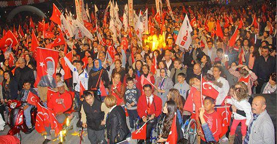 Atakum'da 29 Ekim Kurtuluş Yürüyüşü