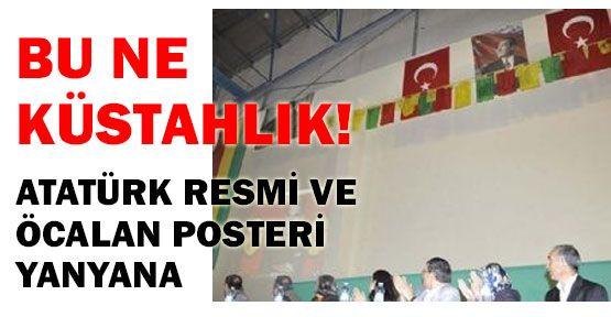 Atatürk ve Öcalan Posteri Yanyana
